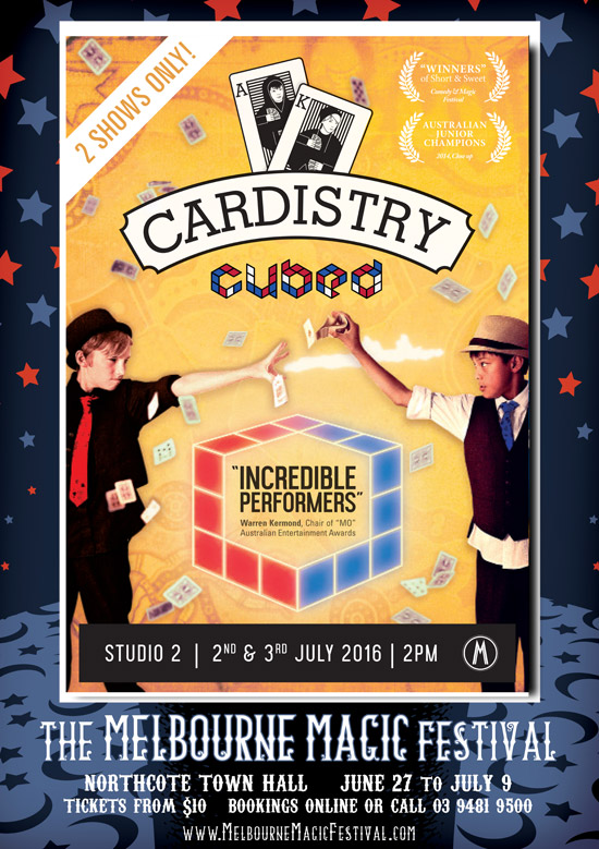 Cardistry Cubed Poster